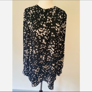 CeCe Long-sleeve Floral Blouse Oversized medium